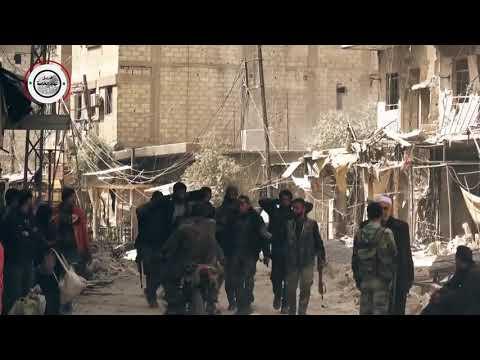 doğu guta da öso teröristlerin suriye ordusu tarafından harasta bölgesinde canlı olarak ele geçti