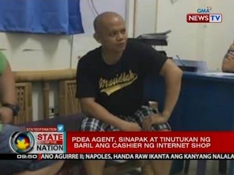 SONA: PDEA agent, sinapak at tinutukan ng baril ang cashier ng internet shop