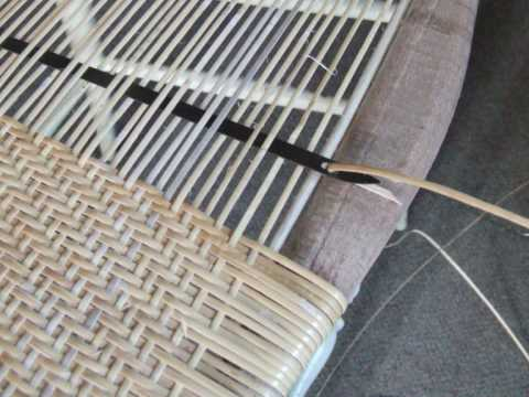 Weaving porch cane with a steamer  YouTube