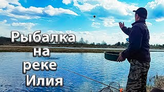 Рыбалка на реке Илия Ловля плотвы болонской удочкой Поплавочная ловля на вечерней зорьке