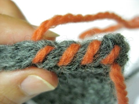 How To Whipstitch Straight Edged Crochet Seams Standard Whipstitch