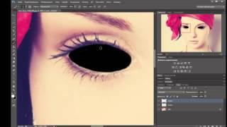 Как сделать чёрные глаза через ФОТОШОП (Adobe Photoshop CS6 x64)