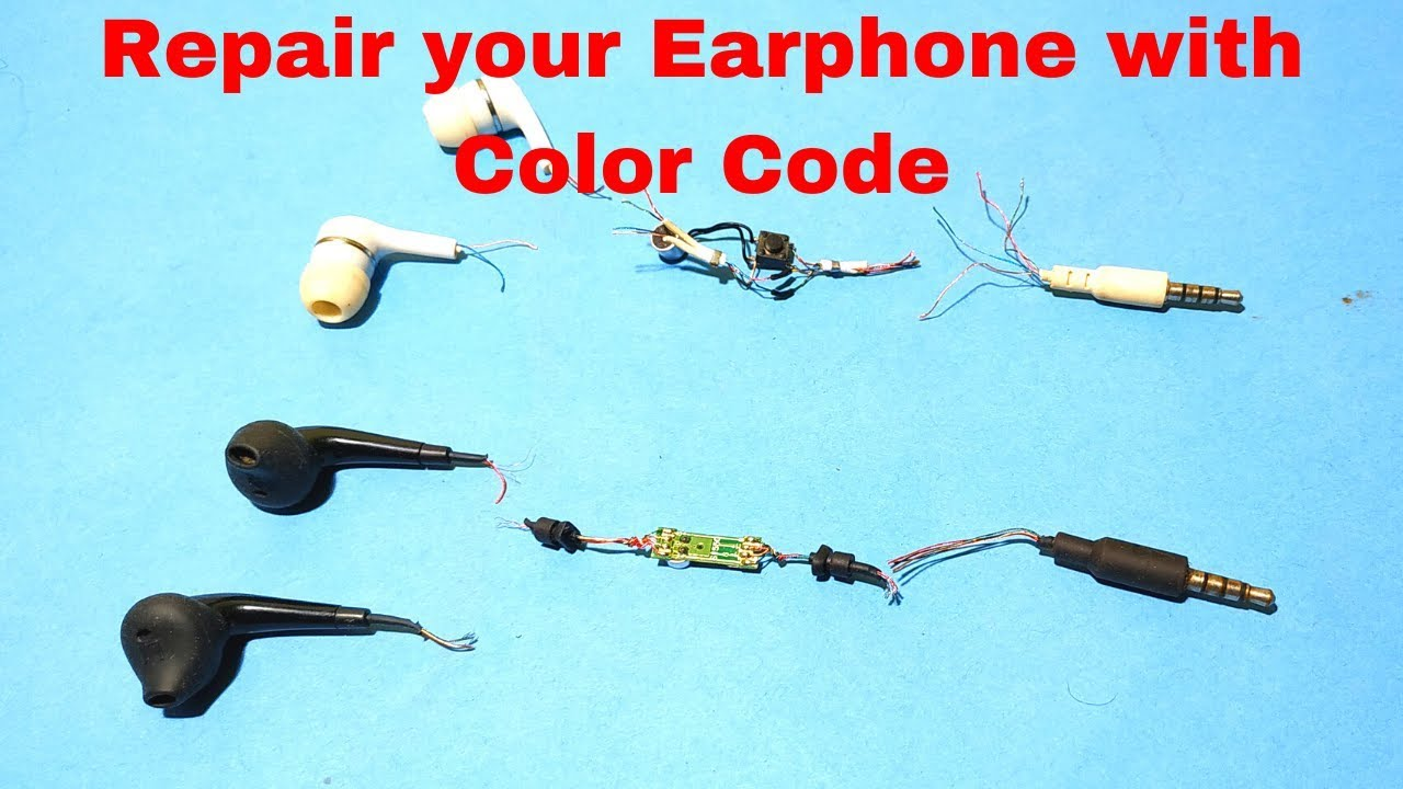Repair Your Earphone With Color Code Makelogy Youtube