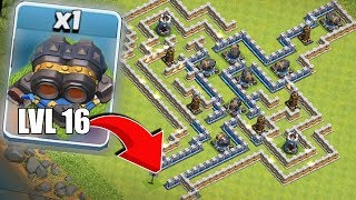 "LVL 16 GEARED CANNON MAZE!! ""Clash Of Clans"" IMPOSSIBLE CHALLENGE!!"