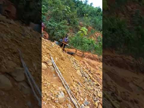 Ghana local gold mine.