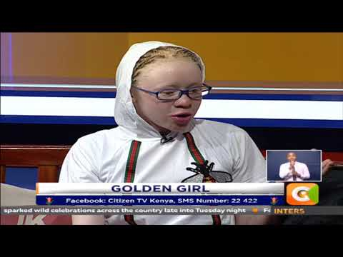 14-Year-Old Albino Girl Tops Kenya's Primary Exams, Meets The President (Photos)