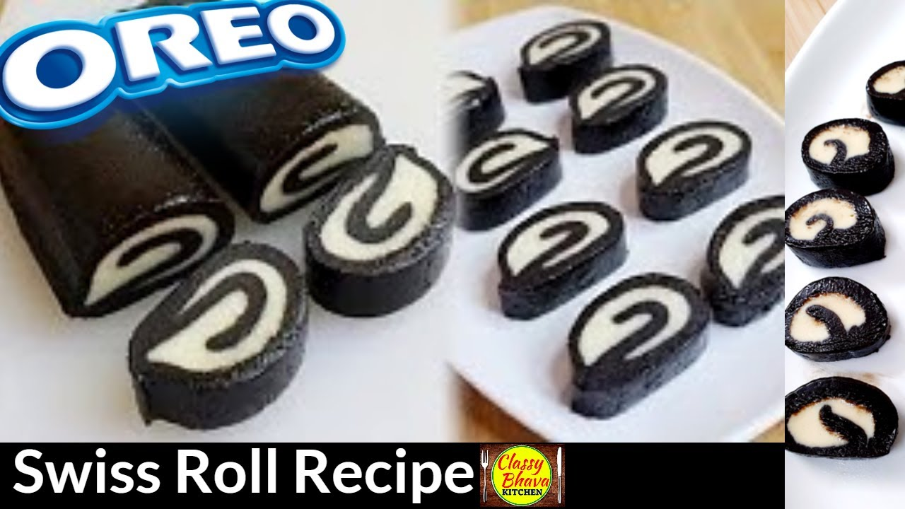 Oreo Swiss Roll Recipe | Swiss Roll Recipe| Swiss Roll Without Whipped  Cream,Dark Chocolate,Oven,Egg - YouTube