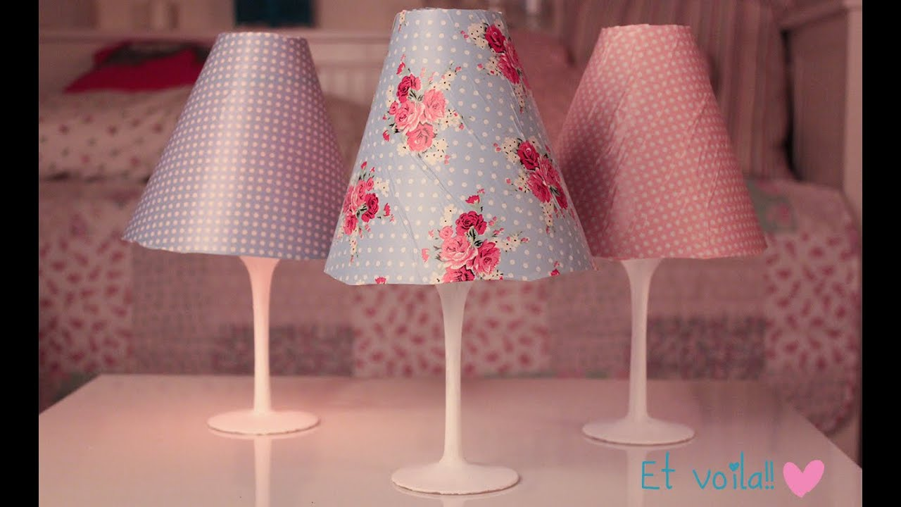 DIY Lampshade Easy Room Decor