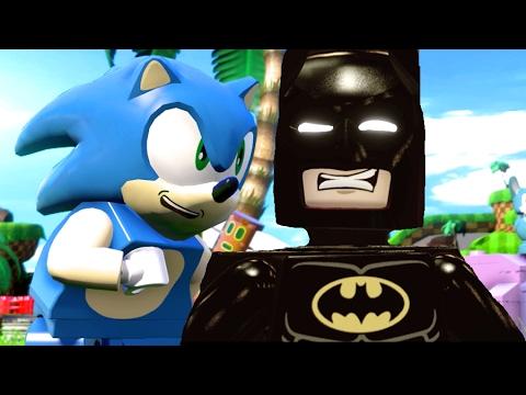 LEGO Dimensions Sonic The Hedgehog & Lego Batman Movie All Cut ...