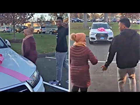 Jazz Rookie Donovan Mitchell Surprises His Mom With A New Car & Her Reaction Is Priceless