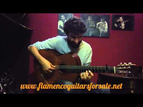 Juan Campallo plays the José Ramírez 1999 flamenco guitar for sale