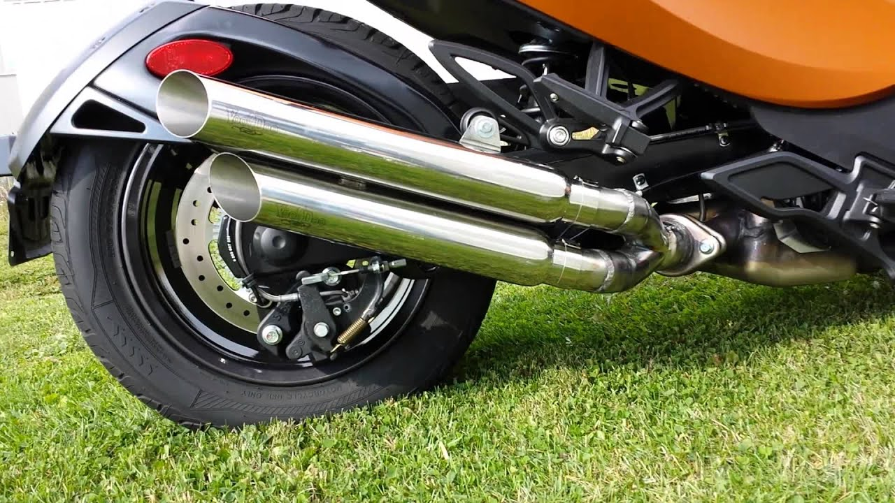 Voodoo Exhaust Color Black Type Shorty Can Am Spyder GS RS 2013 2014   ID  VESPYL3B