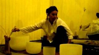Crystal Bowls Sacred Dancing - Devi Dhyani Sufi Dervish Whirling