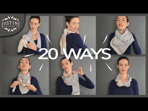 20 Ways To Wear A Scarf + How-to Tips | Justine Leconte