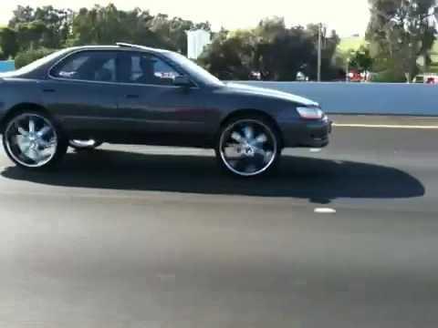 Es 300 on 24 inch rims - YouTube
