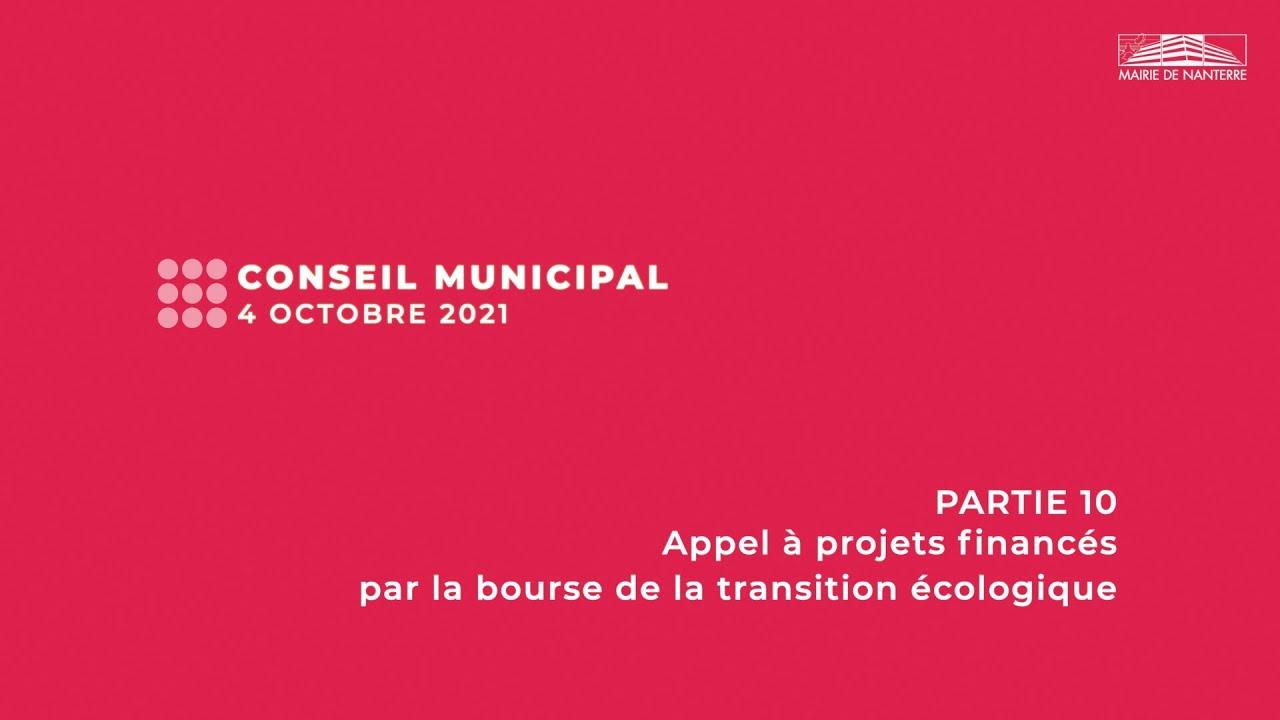 Conseil municipal du 4 octobre 2021 - PARTIE 10