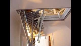 Electric loft ladder A F Staircase Systems