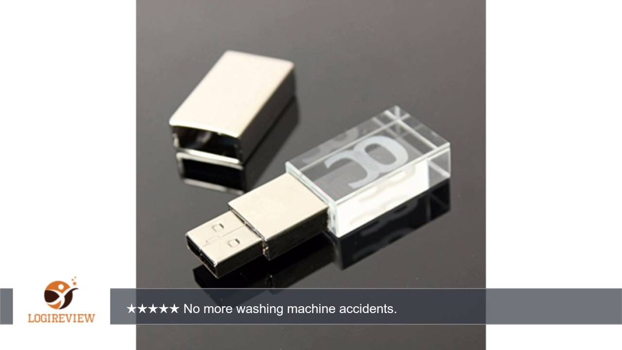 Onchoice Usb Flash Drive 16gb Usb 2 0 Memory Stick Led Waterproof Thumb Drive Crystal Transparent Youtube