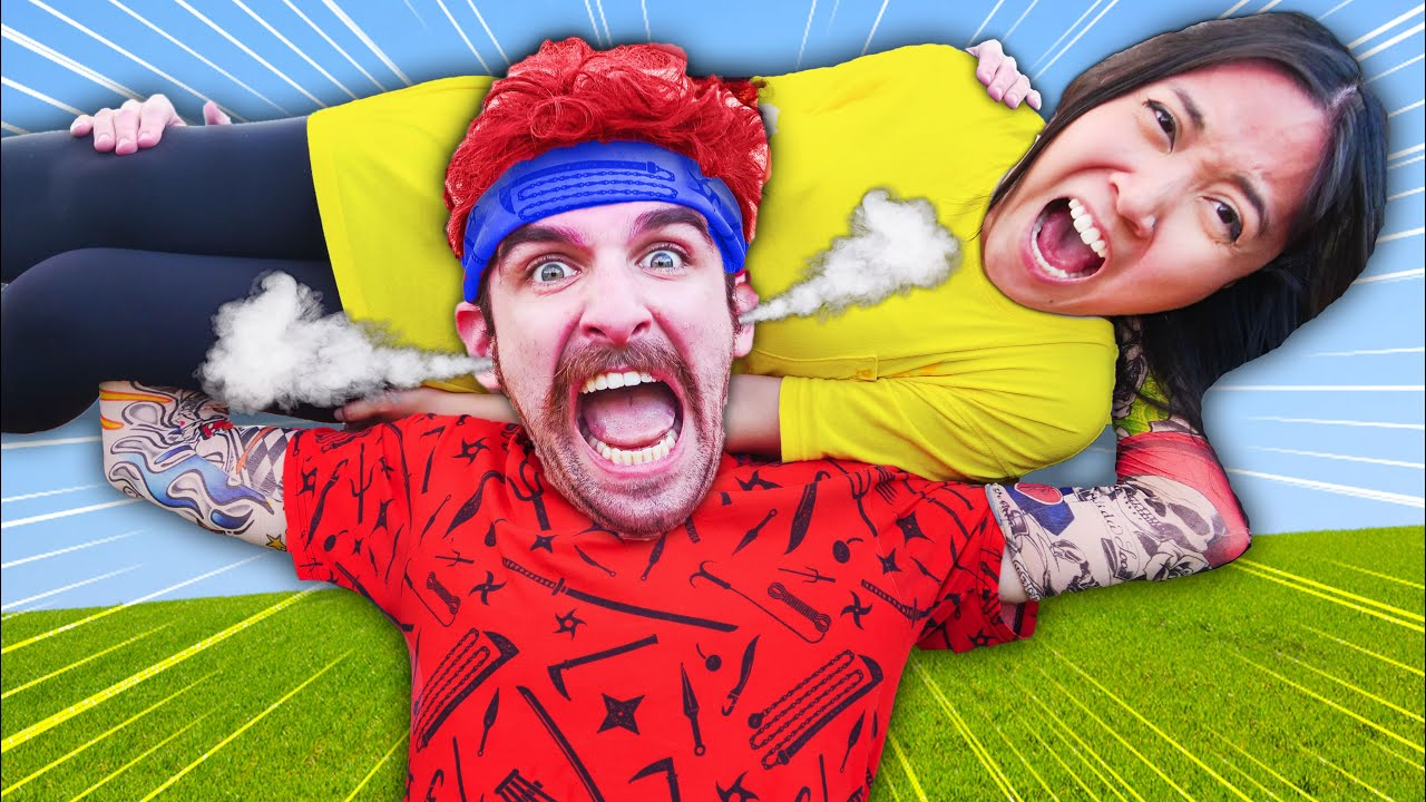 MONSTER DANIEL! Extreme Hide and Seek Challenge vs Trampoline Park Carnival Last To Get Caught Wins!