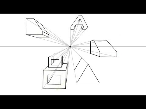 One Point Perspective Tutorial Stacking Holes And Angles