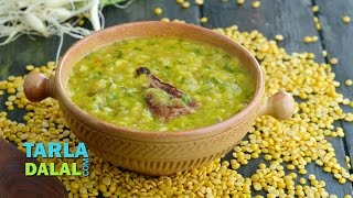 Hare Lehsun ki Dal, Green garlic winter dal by Tarla Dalal