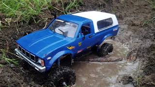Mini mud truck! Custom Toyota Wpl c24 model