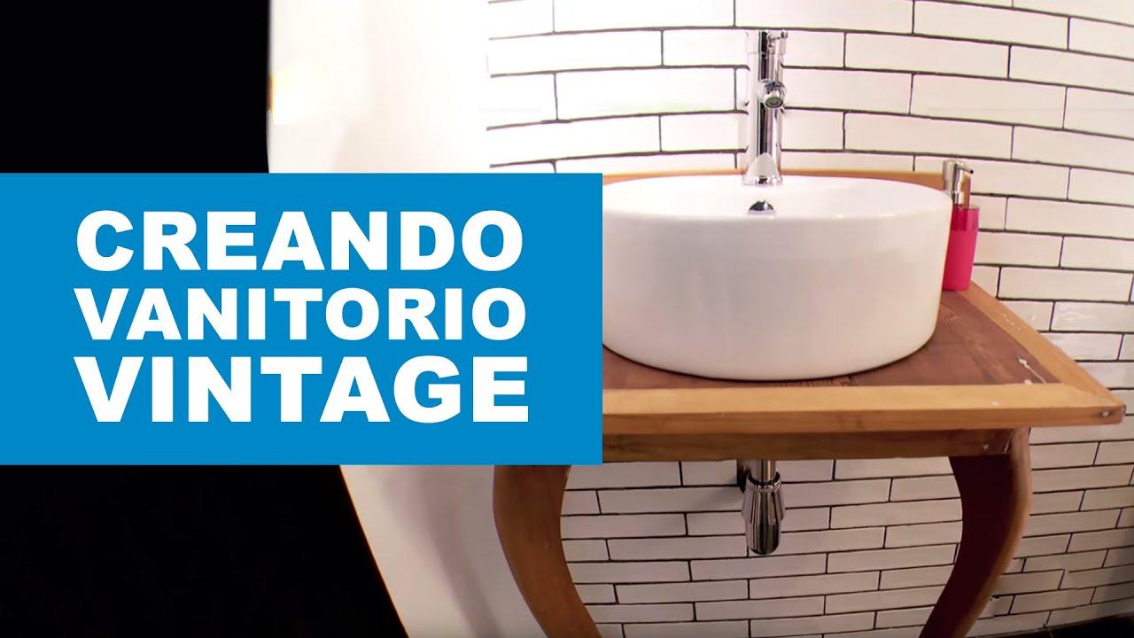 C mo hacer un vanitorio vintage para el ba o youtube - Como hacer un mueble de bano ...
