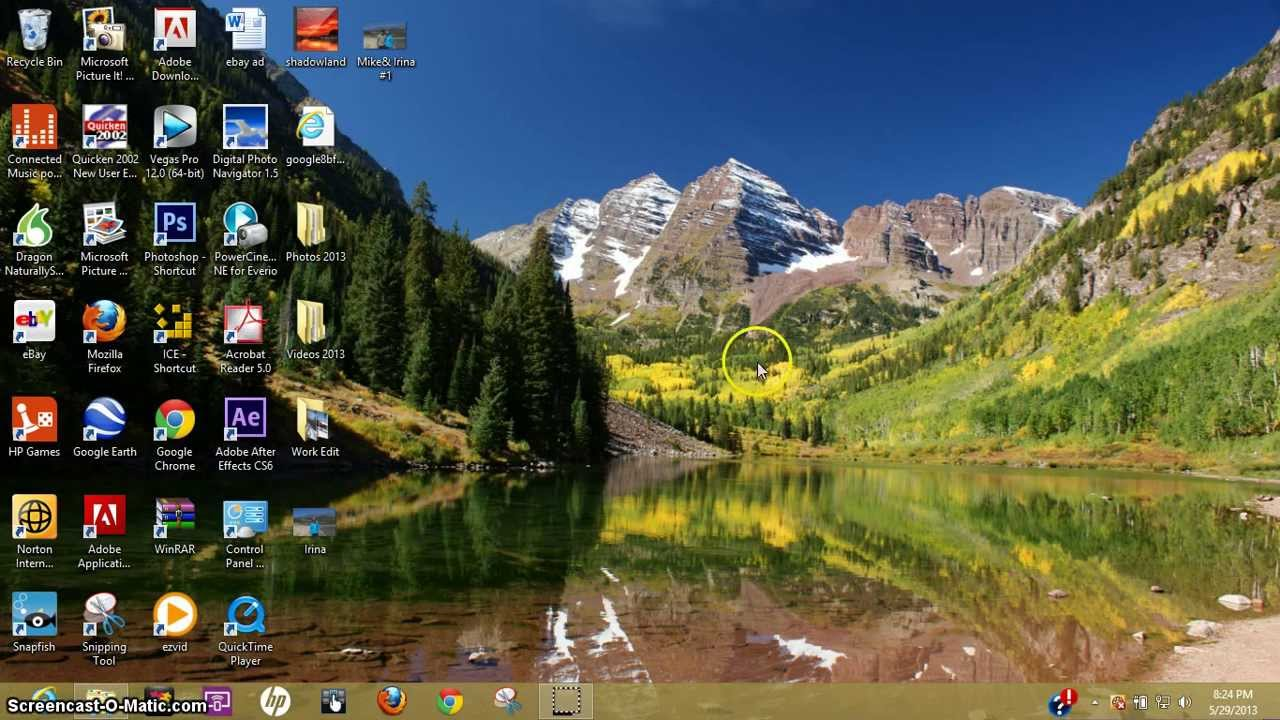 How To Change Windows 8 Desktop Background Youtube