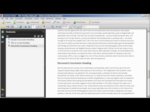 Adding And Editing Bookmarks In A PDF Document