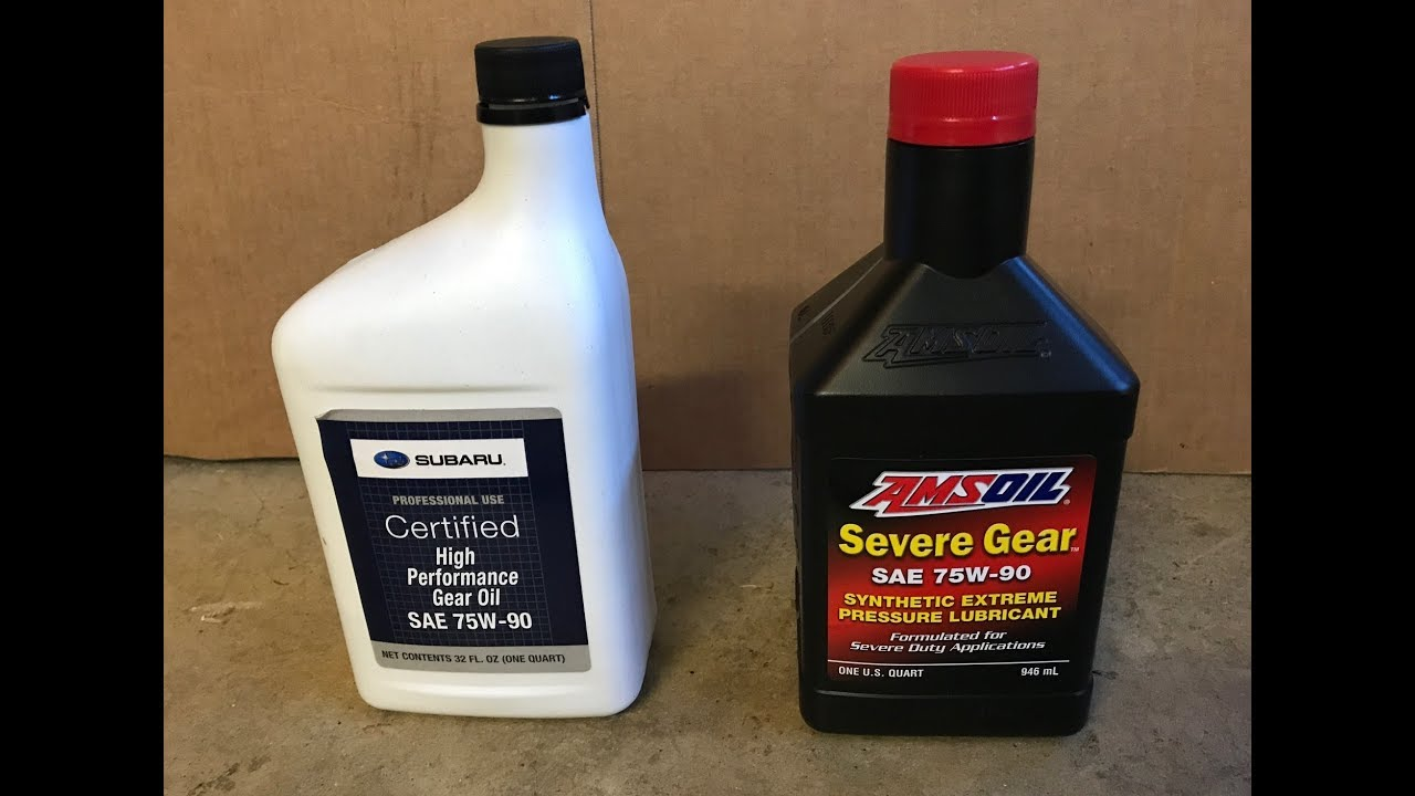 Amsoil Severe Gear 75w 90 >> 2015 Subaru Wrx Ep 852 Rear Diff From Subaru To Amsoil