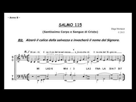 SS. CORPO E SANGUE DI CRISTO (Anno B) - SALMO 115 (Alzerò il calice della salvezza...)