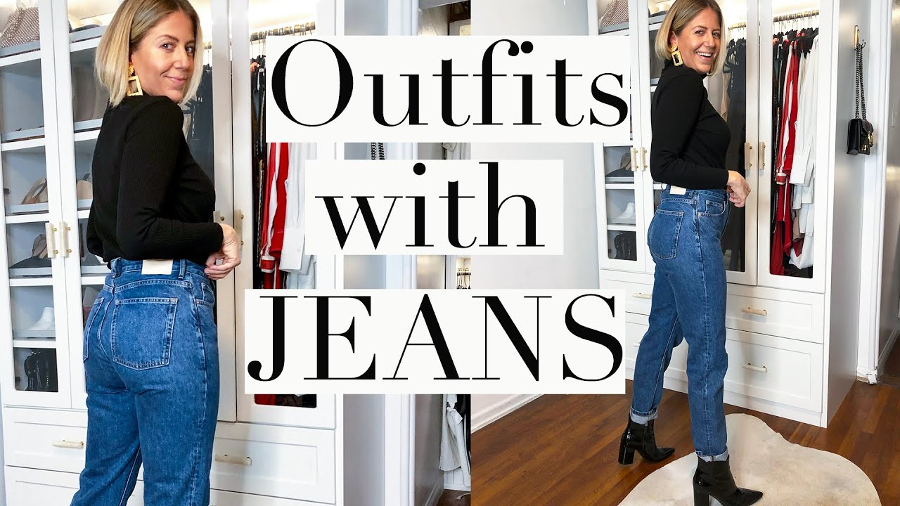 [VIDEO] - EASY FALL OUTFITS WITH JEANS (YOU WILL LOVE!!) 2