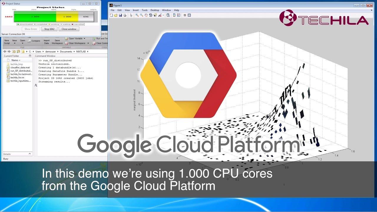 Rocket Speed to MATLAB using Techila and Google Cloud Platform