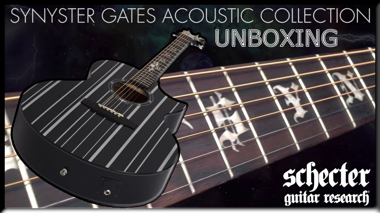 unboxing synyster gates signature acoustic electric guitar by schecter sick guitar youtube. Black Bedroom Furniture Sets. Home Design Ideas