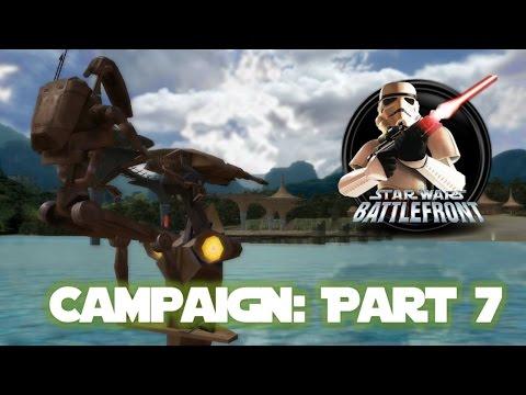 Star Wars Battlefront 1 Walkthrough: Clone Wars Campaign #7 - The Battle of Kashyyyk