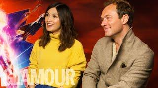 Jude Law & Gemma Chan Reveal Cringe MSN Messenger Email Addresses | GLAMOUR UK