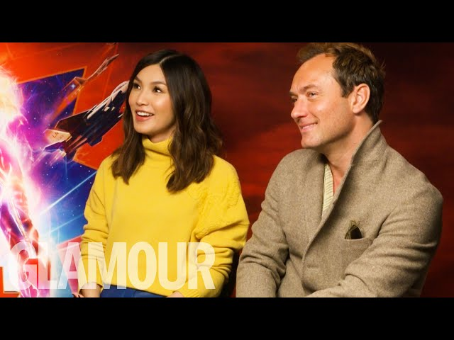 Jude Law & Gemma Chan Reveal Cringe MSN Messenger Email Addresses | GLAMOUR UK