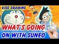 Draw Suneo transsexual from Doraemon - Kids drawing & coloring page 2019