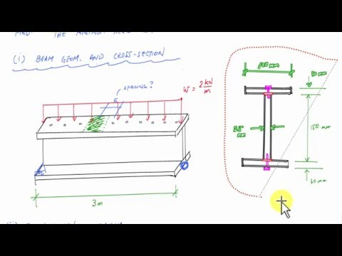 Shear Flow Example - calculate connector spacing - Mechanics of Materials