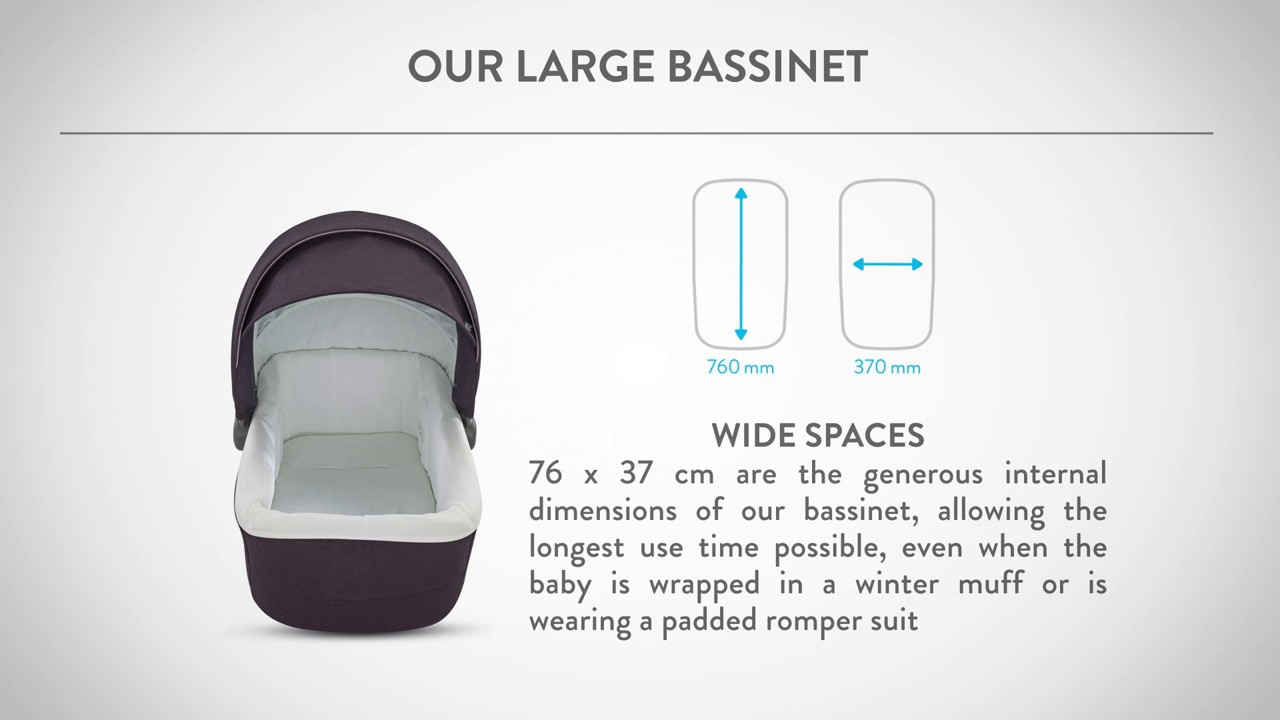 uppababy bassinet dimensions
