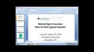 Mentoring for Success: How to Find a Good Mentor (09.2013)