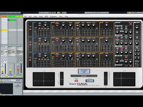 Roland Gaia Sh 01 Sound Editor And Controller Vst And Standalone Youtube
