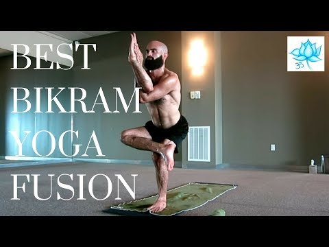 BEST Bikram Vinyasa Fusion 1 hour Yoga Class