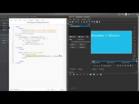 HTML5 video editing with Shotcut and Brackets quick demo