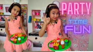 Cooking game in Hindi Part-12  Party Preparation  Kitchen Set  #LearnWithPari