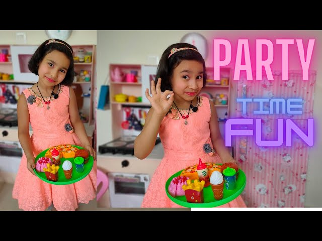 Cooking game in Hindi Part-12 | Party Preparation | Kitchen Set | #LearnWithPari