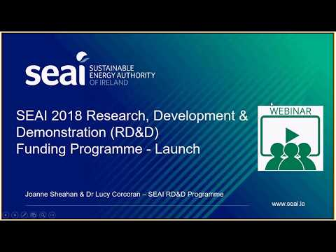 Webinar - 2018 Research, Development and Demonstration Call