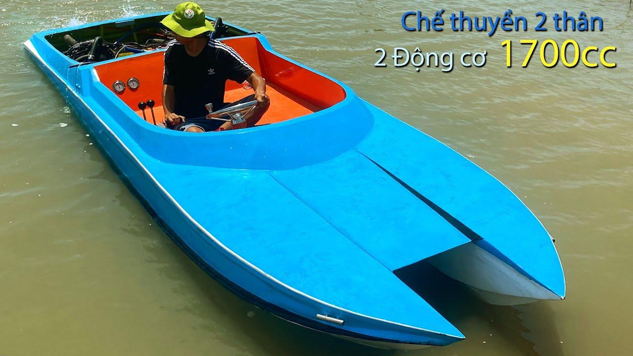 Download Chế thuyền hai thân từ xốp sử dụng 2 động cơ   Diesel Crafting boats from foam 1700cc