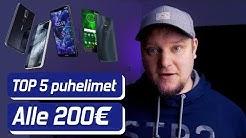 TOP 5 Puhelimet alle 200€