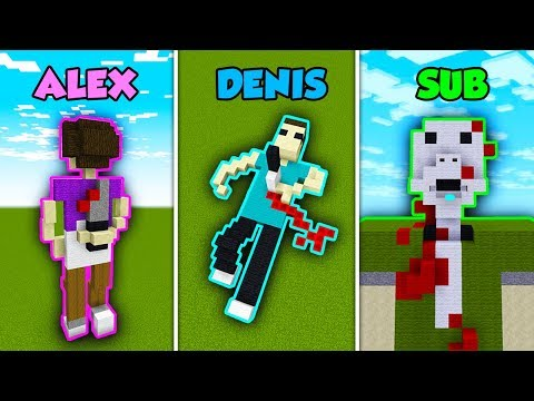 ALEX Vs DENIS Vs SUB - MURDER MYSTERY In Minecraft! (The Pals)